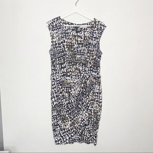 Calvin Klein Sleeveless Printed Sheath Dress
